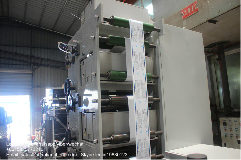 600mm Width 4 Color Flexo Printing Machine 100 M/Min Printing Speed CE Approved