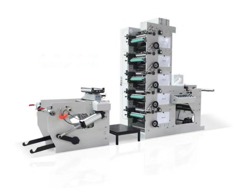 Paper Cardboard Adhesive Flexo Printing Press , Flexographic Printing Equipment Simulation EPC